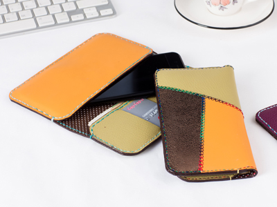 Leather wallet for iPhone plus