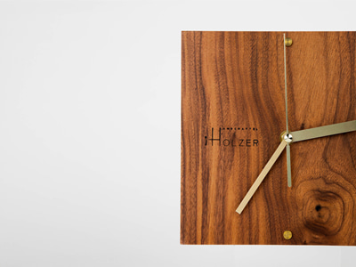 Brass square wallclock